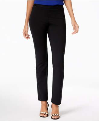 INC International Concepts I.n.c. Petite Pull-On Straight-Leg Pants