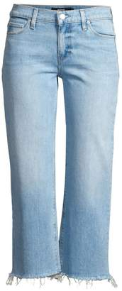 Hudson Jeans Stella Crop Straight-Leg Jeans