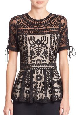 Parker Shannon Embroidered Top $298 thestylecure.com