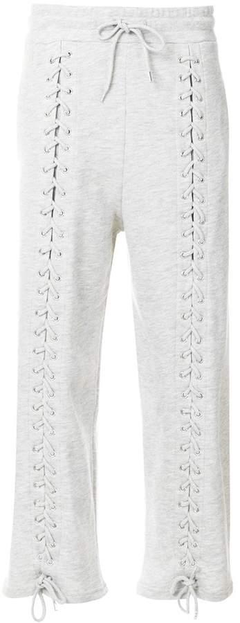 lace-up detail sweatpants