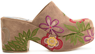 Laurence Dacade embroidered slip-on mules $760 thestylecure.com