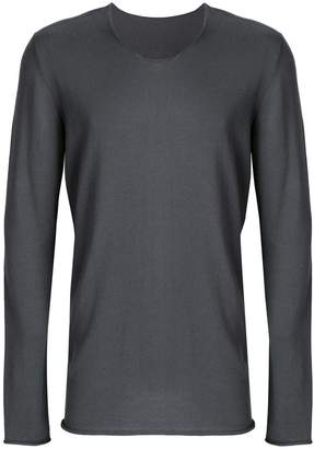 Label Under Construction punched long sleeved T-shirt