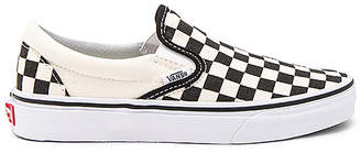Vans Classic Slip On in Black & White $55 thestylecure.com