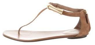 Gucci Leather Embellished Sandals