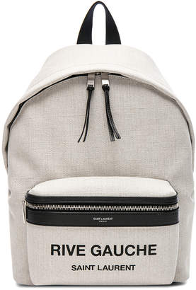 Saint Laurent Mini Canvas Rive Gauche City Backpack