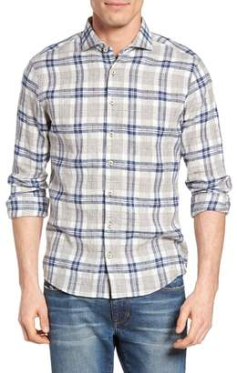 Blend of America Singer + Sargent Brushed Linen Plaid Sport Shirt