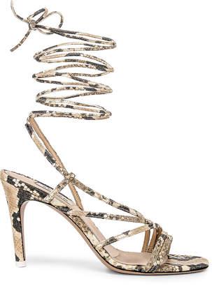 ATTICO Baby Python Printed Heel in Nude | FWRD