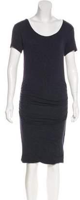 Velvet Casual Short Sleeve Dress