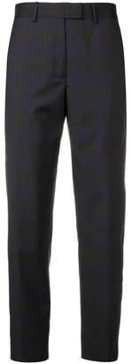 Calvin Klein subtle plaid print trousers