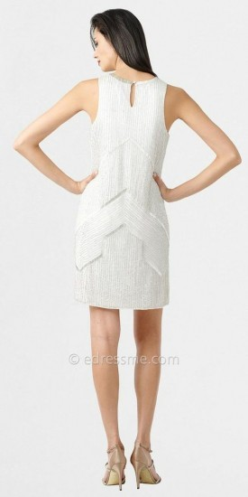 Adrianna Papell High Necked Sparkle Shift Dresses