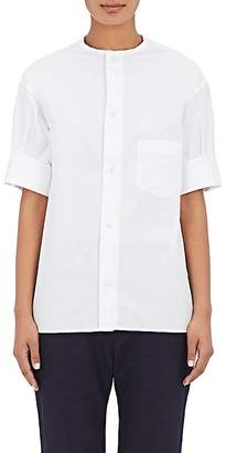 Yohji Yamamoto Regulation Women's Poplin Short-Sleeve Shirt