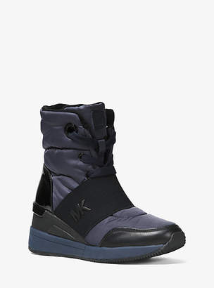 Michael Kors Shay Nylon And Leather High-Top Sneaker