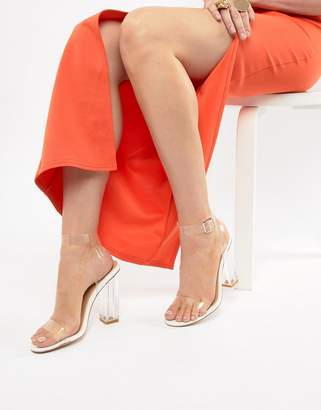 PrettyLittleThing Clear Block Heeled Sandals