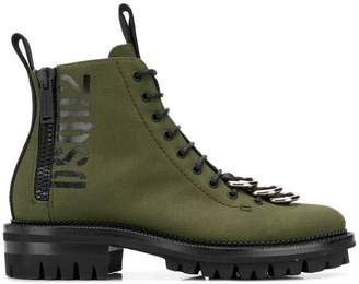 DSQUARED2 loop toe cargo boots