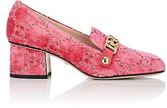 0d2618491 Gucci Women s Sylvie Embossed Velvet Pumps - Md. Pink