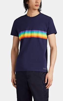 6fcfc11bff Barneys New York Men's Logo Rainbow-Striped Cotton T-Shirt - Navy