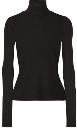 Alexander Wang Ribbed Wool Turtleneck Sweater - Black