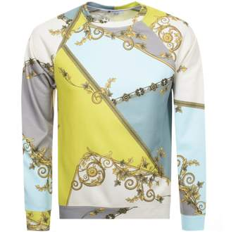 Versace Crew Neck Sweatshirt Blue