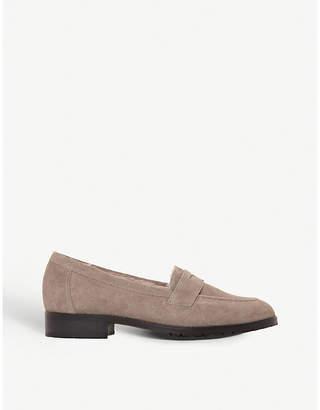 Dune Black Glenbrooke suede loafers