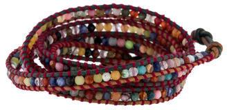 Chan LuuChan Luu Multicolor Agate Bead Wrap Bracelet