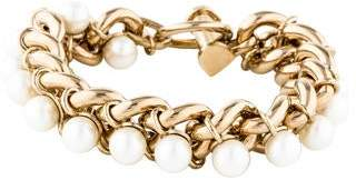 Jason Wu Faux Pearl Chain-Link Bracelet