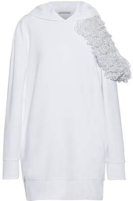 Christopher Kane Cutout Appliqued French Cotton-terry Hoodie