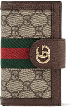Gucci Leather And Chain-trimmed Printed Coated-canvas Iphone 7 And 8 Case