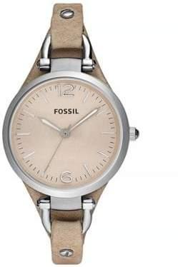 Fossil Georgia Sand Leather Watch