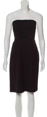 Alberta Ferretti Strapless Mini Dress
