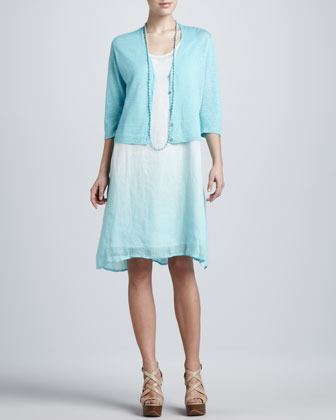 Eileen Fisher Ombre Layered Linen Dress, Petite