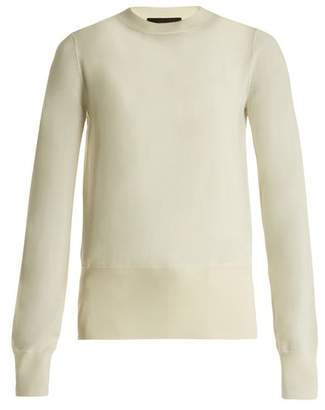 The Row Denni Wool And Cashmere Blend Sweater - Womens - Ivory