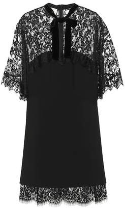 Gucci Lace-paneled minidress