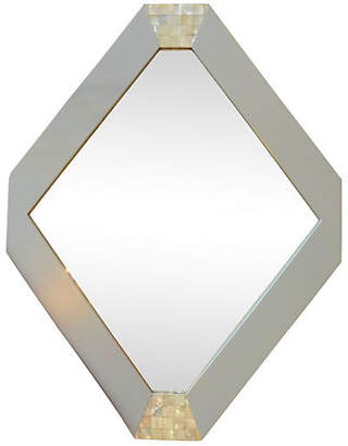One Kings Lane Vintage Hexagonal Mother-of-Pearl Mirror - nihil novi