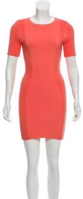 Torn By Ronny Kobo Short Sleeve Bodycon Mini Dress