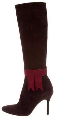 Rupert Sanderson Suede Knee-High Boots