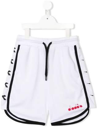 Diadora Junior logo tape track shorts