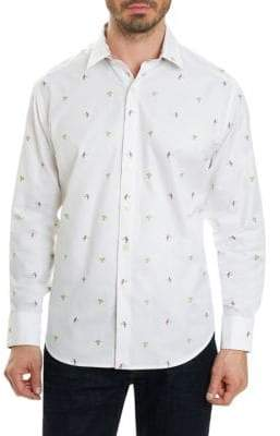 Robert Graham Regular-Fit Tropical-Print Button-Down Shirt