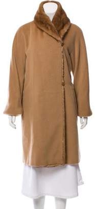 Max Mara Fur-Trimmed Wool Coat