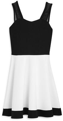 Sally Miller Girls' Color Block Flared Dress - Big Kid $98 thestylecure.com