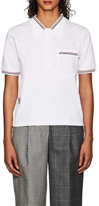 Thom Browne WOMEN'S TROMPE L'OEIL COTTON POLO T-SHIRT