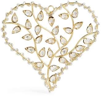 Shishi Crystal-Embellished Heart Christmas Decoration