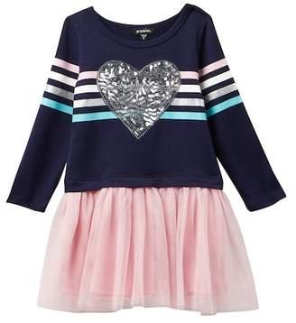 Zunie Long Sleeve Drop Waist Tutu Dress (Little Girls)