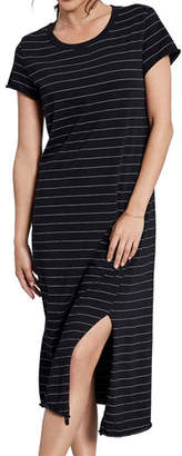 Frank And Eileen Asymmetrical Striped Tee Dress