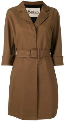 Herno belted short trench coat