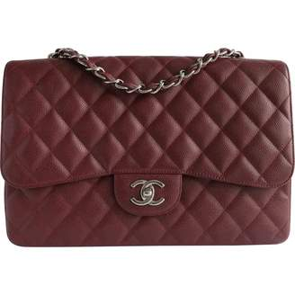 Chanel Timeless Burgundy Leather Handbag