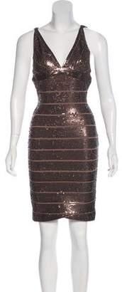 Herve Leger Mariah Sequined Dress