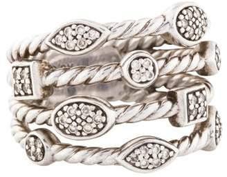 David Yurman Diamond Confetti Four Row Ring