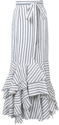 Milly striped peplum skirt