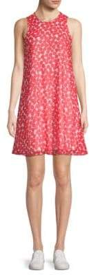 Calvin Klein Printed Chiffon A-Line Dress
