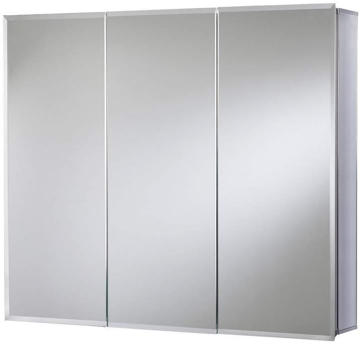 Westbourne Triple Door Tri-View White Steel Bathroom Cabinet